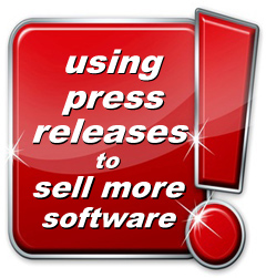 use news releases to sell more software