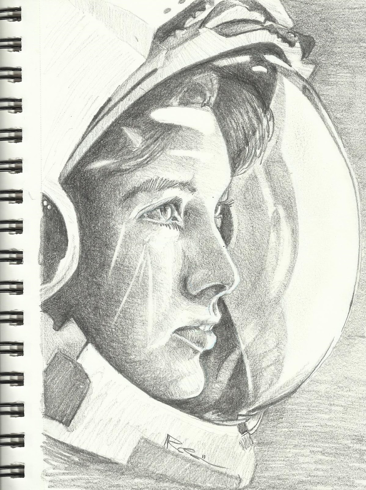 detailed drawings of astronauts - photo #12