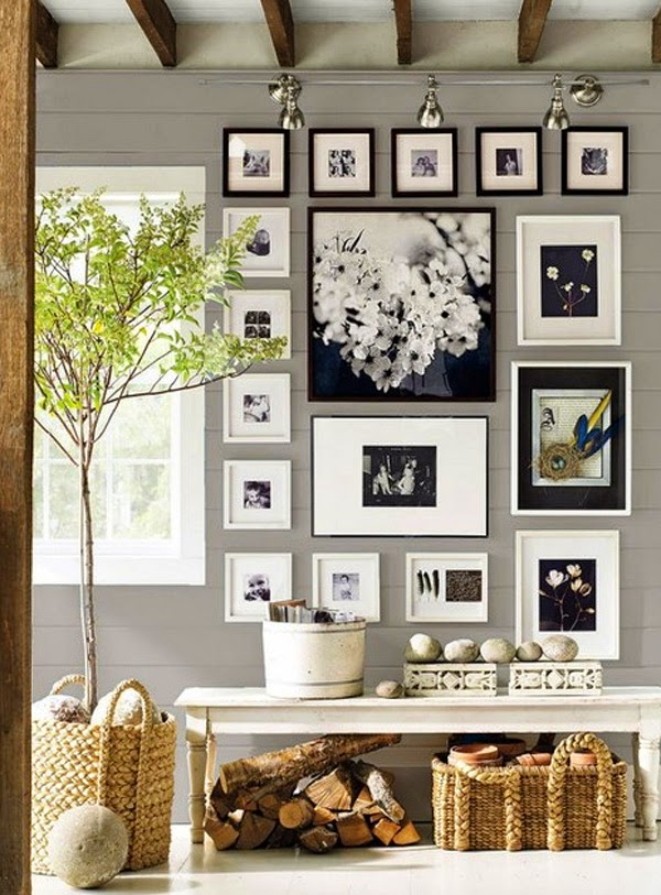 10 entradas decoradas en gris 10 grey entrance halls - Como poner fotos en la pared ...