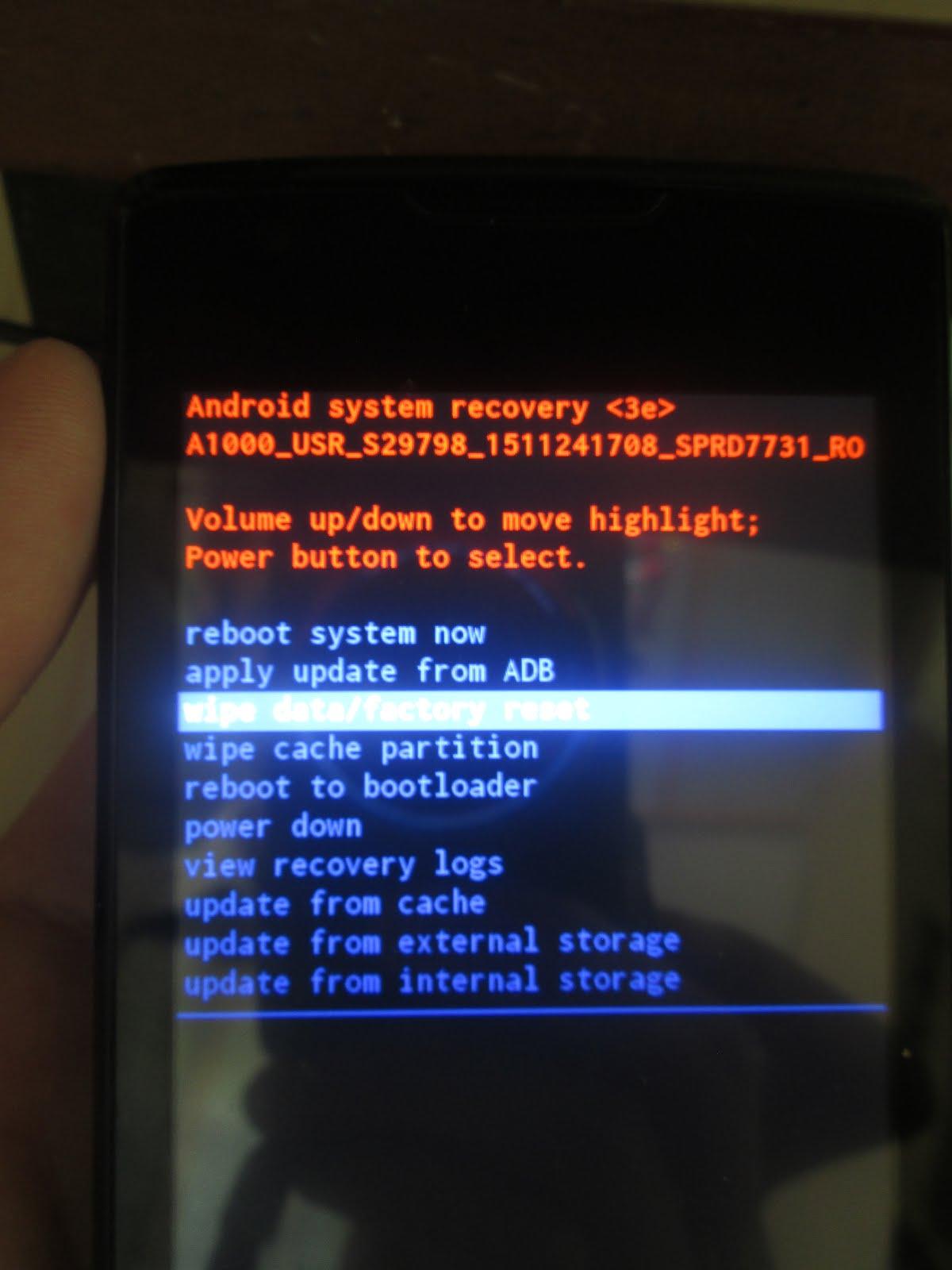 Как сделать Hard Reset на android