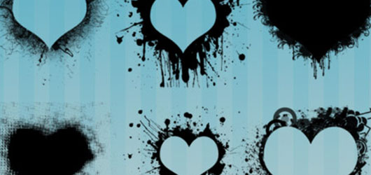 50 Free Photoshop Heart Brush Sets