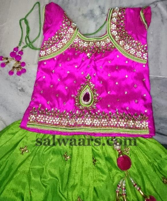 Grand Maggam Work Skirt for Parties