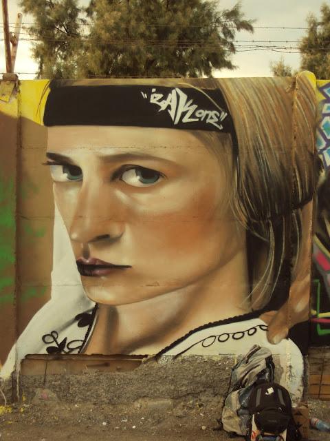 graffiti taller de izak en mejillones, chile