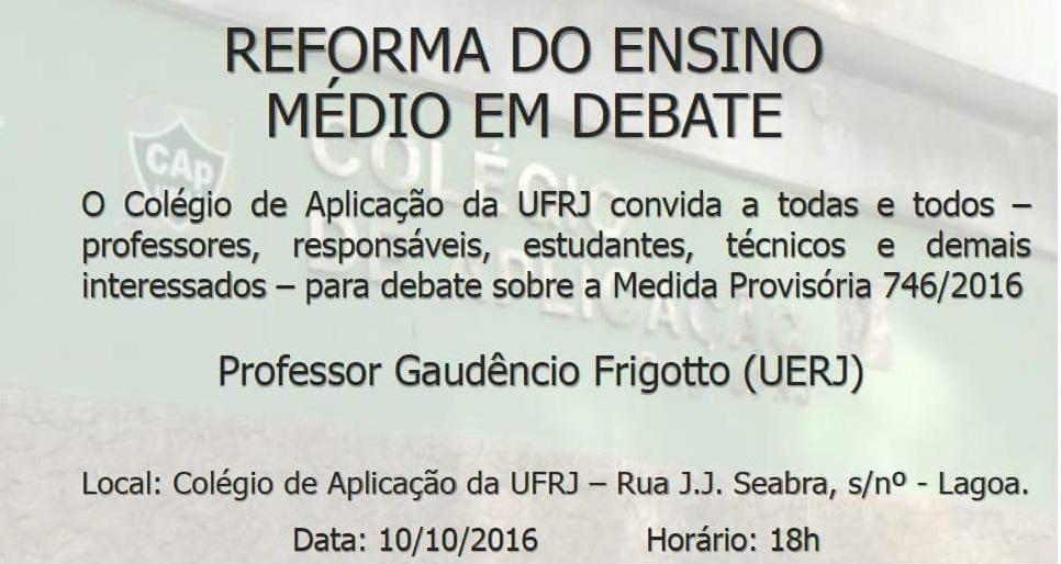Reforma do Ensino Médio em Debate