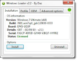 window loader for window 7