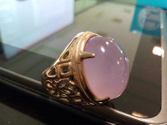 Batu Akik Natural Lavender Pinkish Baturaja LPB001