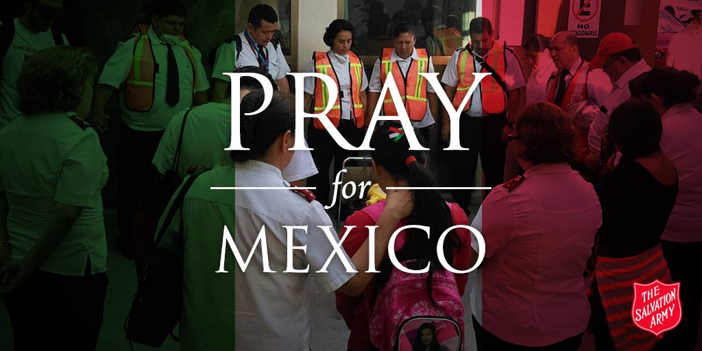 Donate to the SALVATION ARMY earthquake relief effort in Mexico