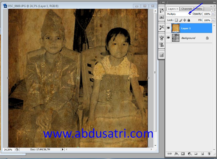 membuat efek foto lama dengan photoshop
