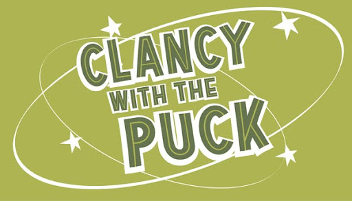 Clancy with the Puck