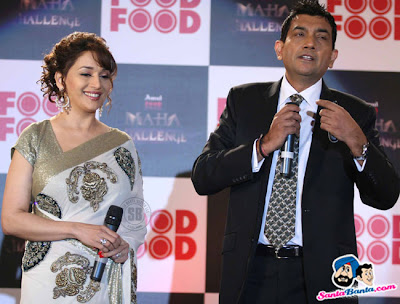 Madhuri Dixit and Sanjeev Kapoor at The Food Food Mahachallenge Launch photos