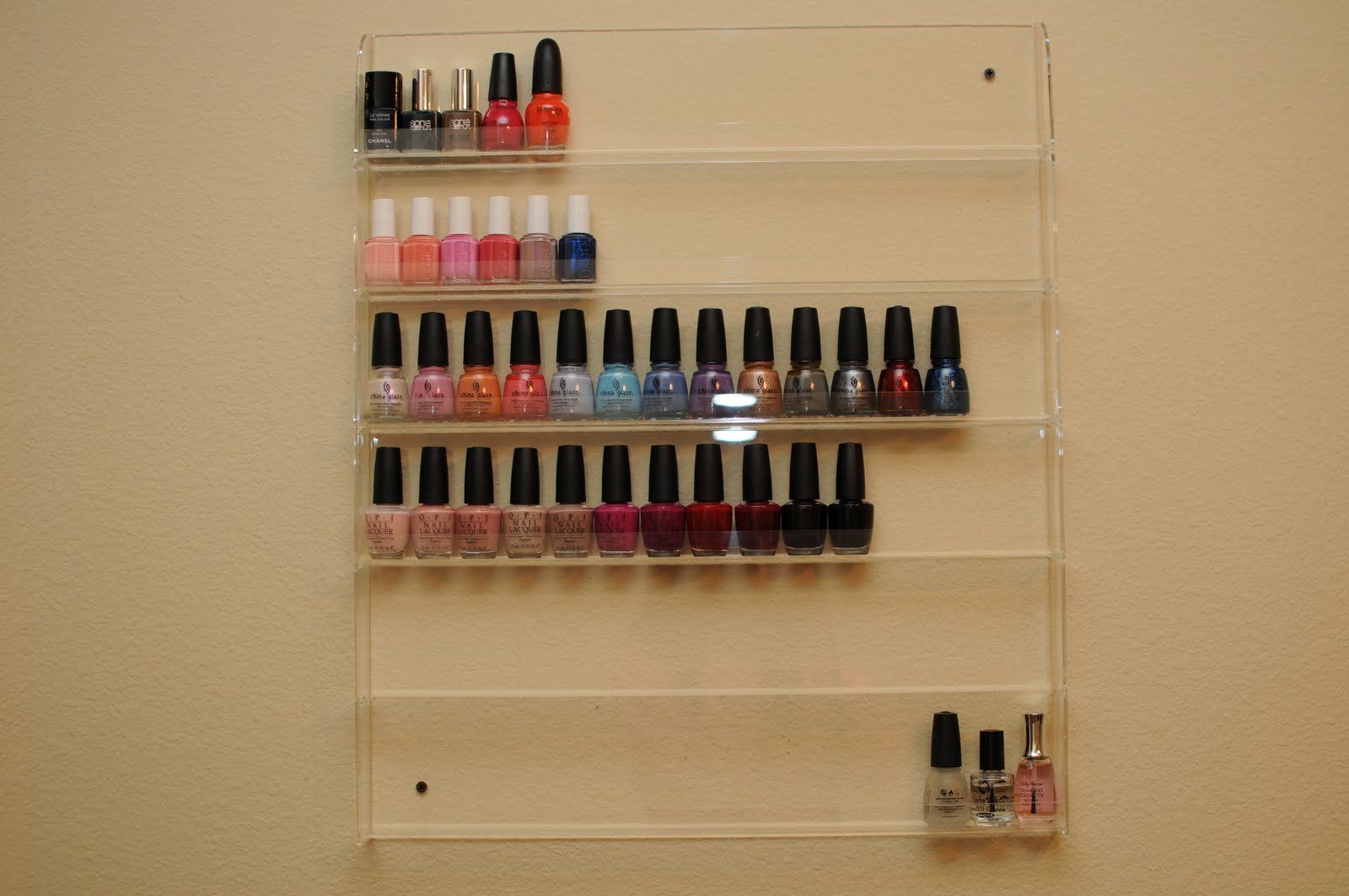 The ebay nail polish wall rackcan't wait to get it!