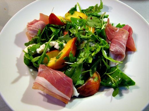 barnescubed mozzarella peach and parma ham salad On parma ham salad