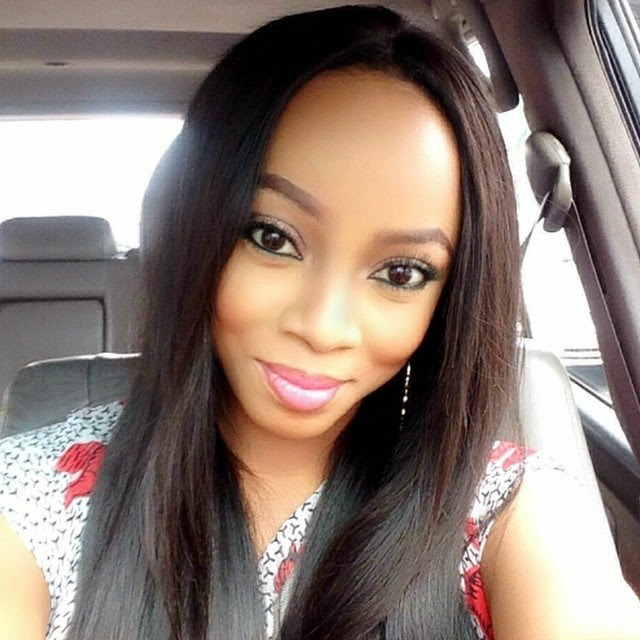 Toke Makinwa in a colorful Jumpsuit
