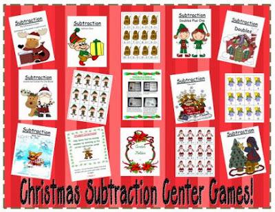 http://www.teacherspayteachers.com/Product/Eight-Christmas-Subtraction-Center-Games-172302