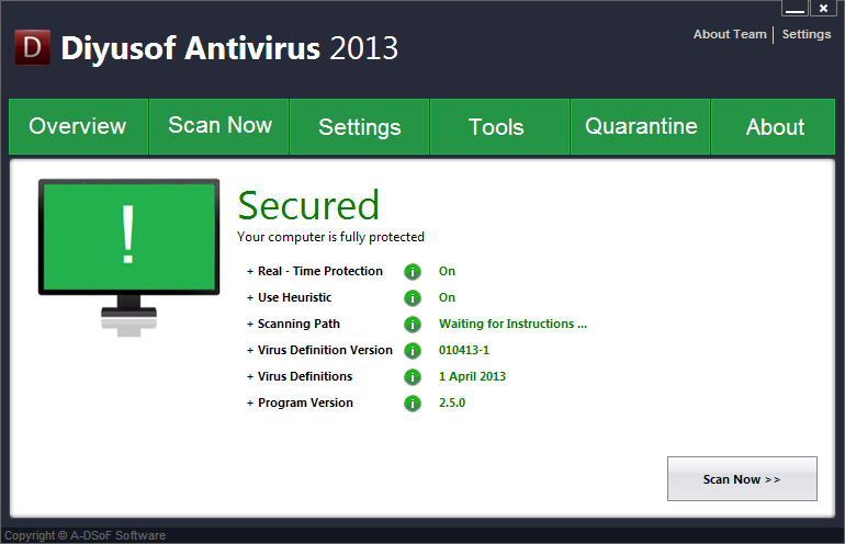 Diyusof Antivirus full screenshot