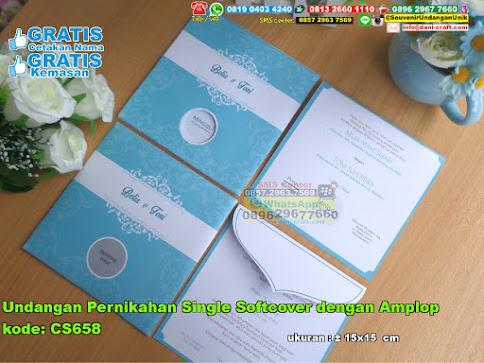 Undangan Pernikahan Single Softcover Dengan Amplop
