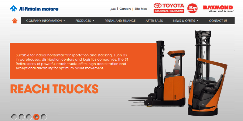 leading distributor of Toyota material handling equipment