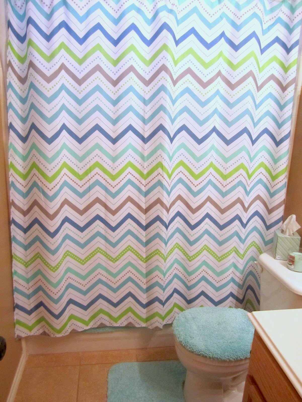 Chevron bathroom sets with shower curtain and rugs - We Got The Shower Curtain And New Rugs But Target Didn T Have Any Home Decor Pieces To Match