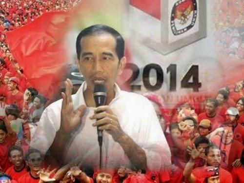 ilustrasi relawan Jokowi