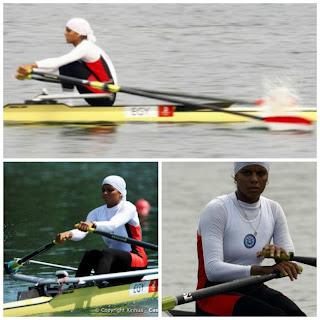 Egyptian rower Heba Ahmed Hijab Olympics