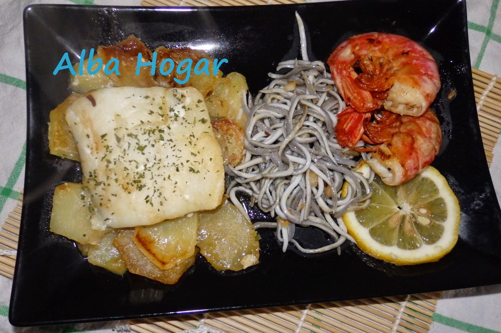 Bacalao con gulas y langostinos alba hogar