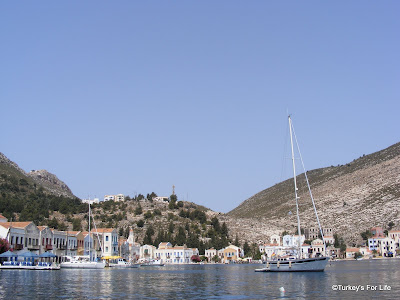 The Greek island of Meis. Also called Kastellorizo.