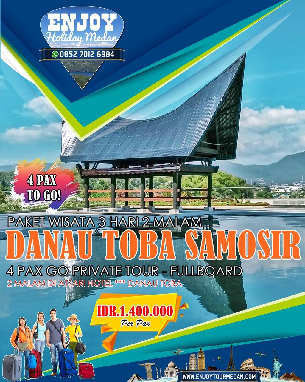 3H2M Paket Wisata Danau Toba 4 Pax