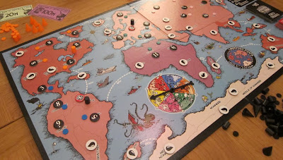 The game board during a game