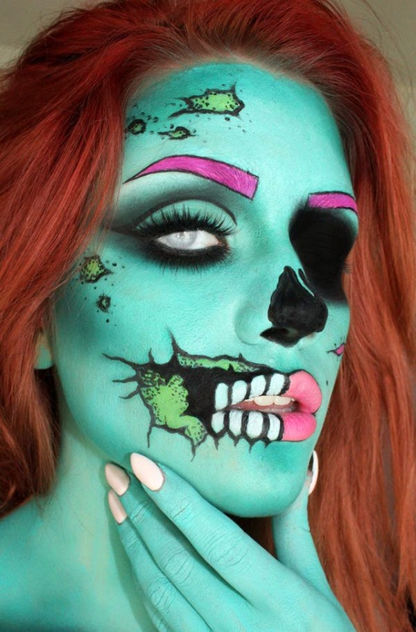2014 halloween face makeup ideas