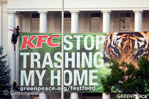 Aktivis Greenpeace Beraksi di Kentucky