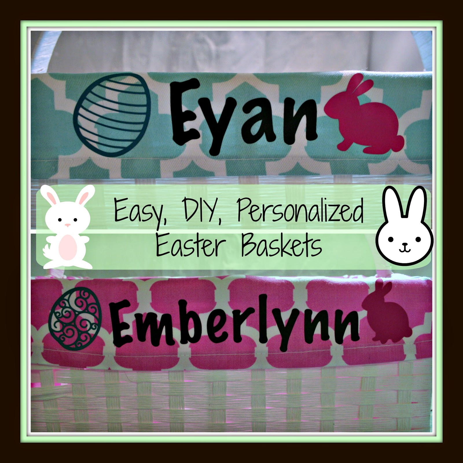Personalized Easter Basket DIY, How to use heat transfer vinyl, how to set up silhouette and heat transfer vinyl, easter, crafts