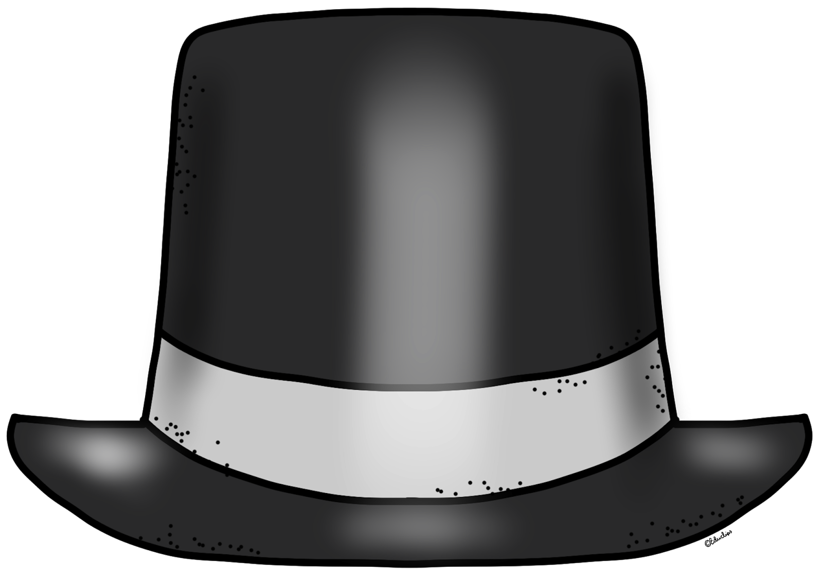 New Years Hat Template {free} blank new year top hat