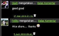 Membuat Reply di Kotak Komentar