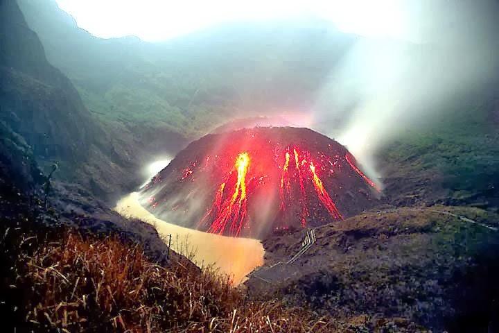 Gunung Kelud Telah Meletus
