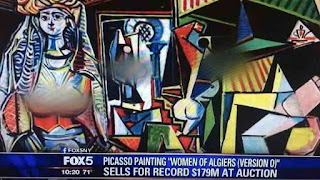 Fox news blurrs breast of Picasso painting sold for $179 million dollar