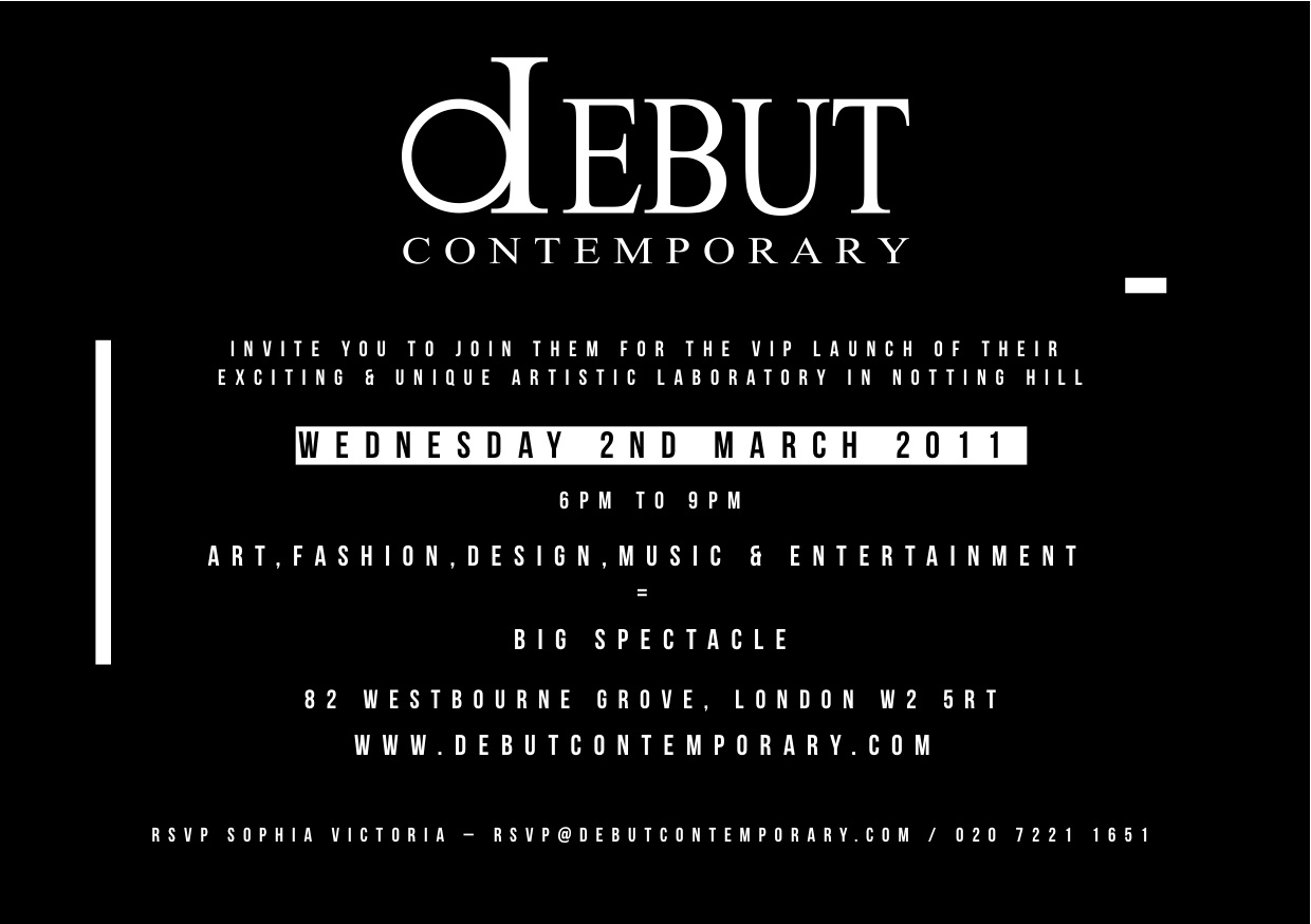 debut CONTEMPORARY - LAUNCH NIGHT!