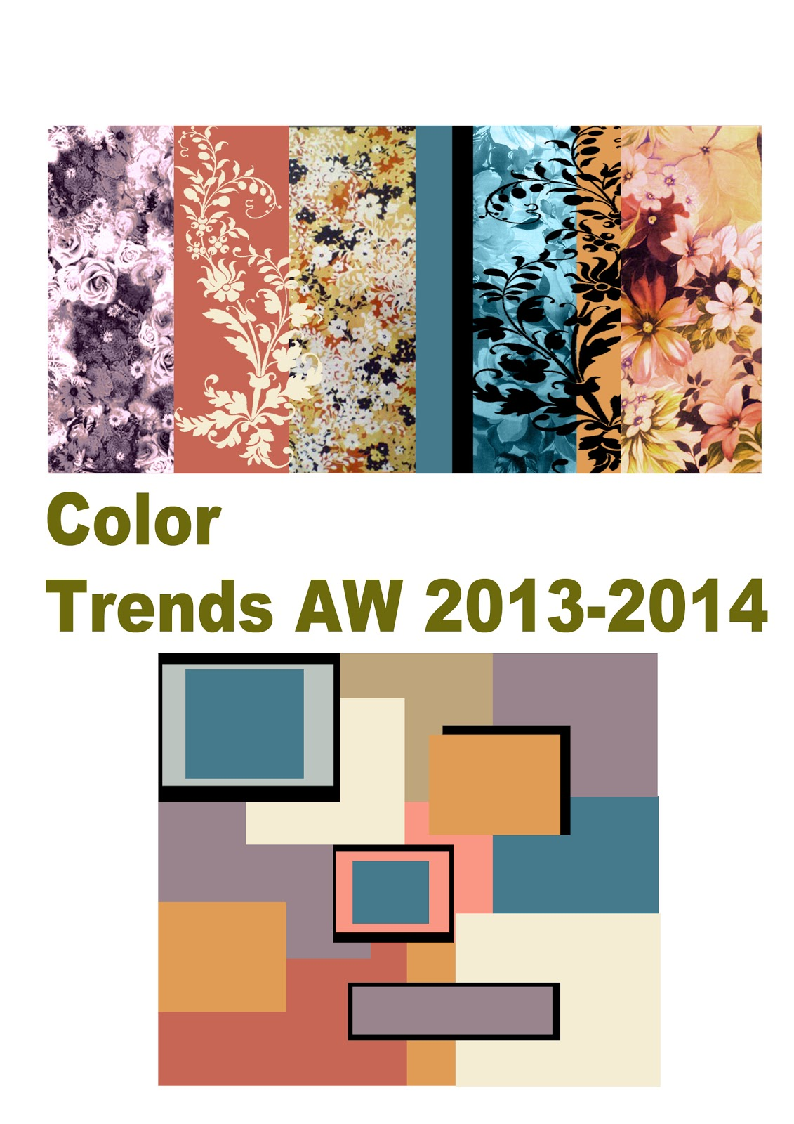 Color trends 2013 2014 and applied to design examples for Raumgestaltung trends 2014