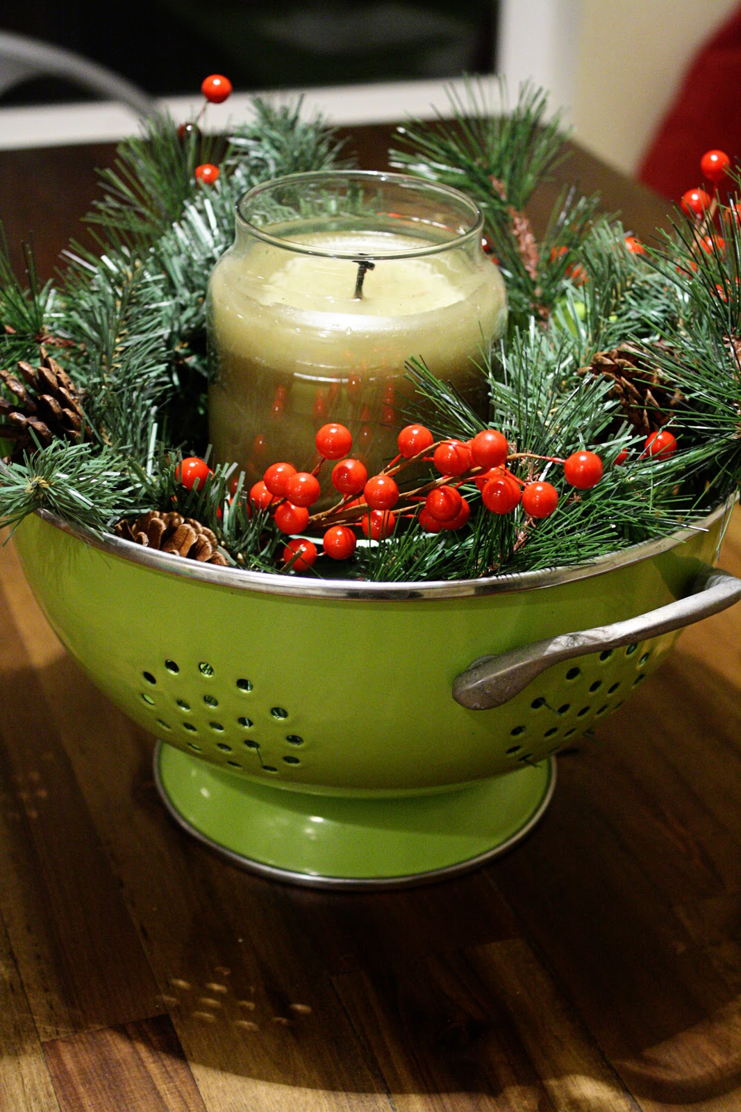 Christmas Kitchen Centerpiece