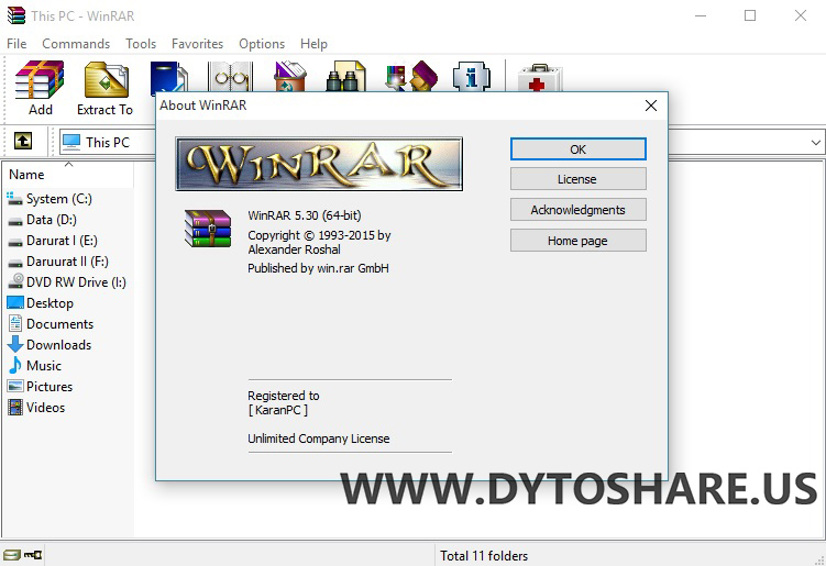 Winrar 5.30 32bit and 64bit full version crak