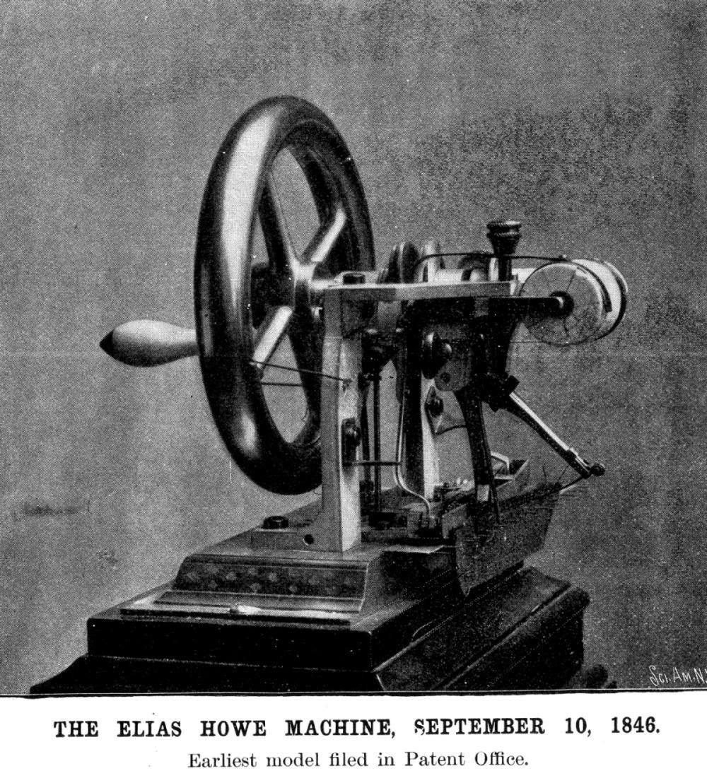 Máquina de coser ~ Historia de los inventos