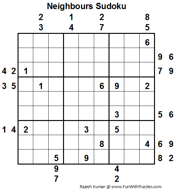 Neighbours Sudoku (Daily Sudoku League #83)