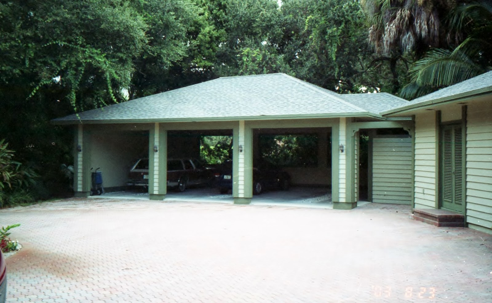 Real modern architect carport addition in vero beach florida for Carport additions