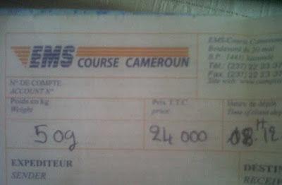 Envoi Colis Poste EMS - Cameroun