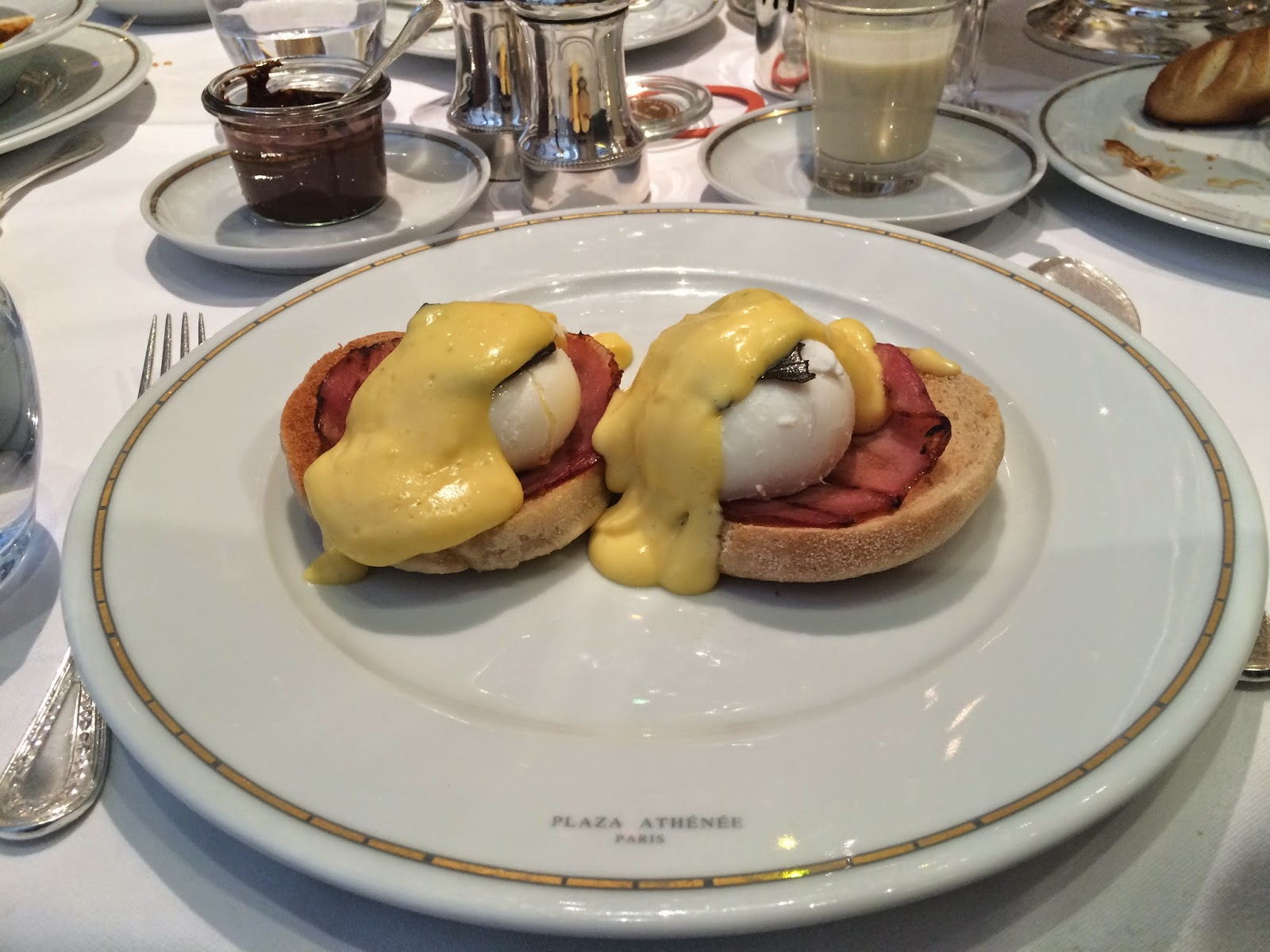 Eggs Benedict at the Haute Couture Brunch, Alain Ducasse au Plaza Athénée, Paris