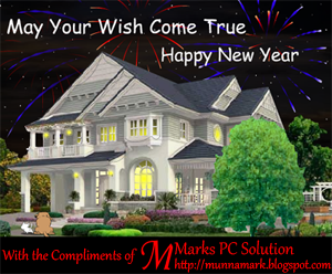 Happy New Year Greetings Card