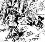 карикатура Теодор Рузвельт и мишка