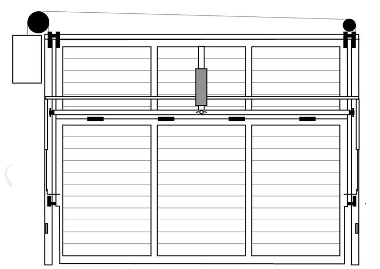 Puertas autom ticas puerta basculante descripci n general - Puertas abatibles garaje ...