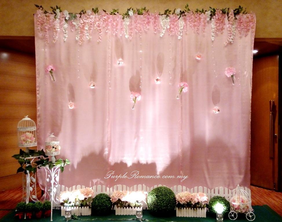 Wedding Photo Booth Decoration Garden Theme Wedding Decoration At Pullman KLCC Purple Romance Event