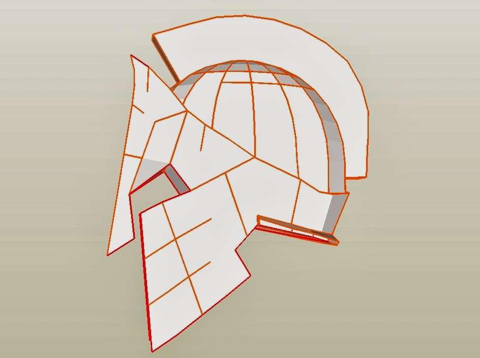 Dali Lomo: Spartan 300 King Leonidas Costume Helmet DIY: Cardboard