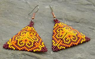 сережки из бисера плетение бисероплетение блог магазин украина